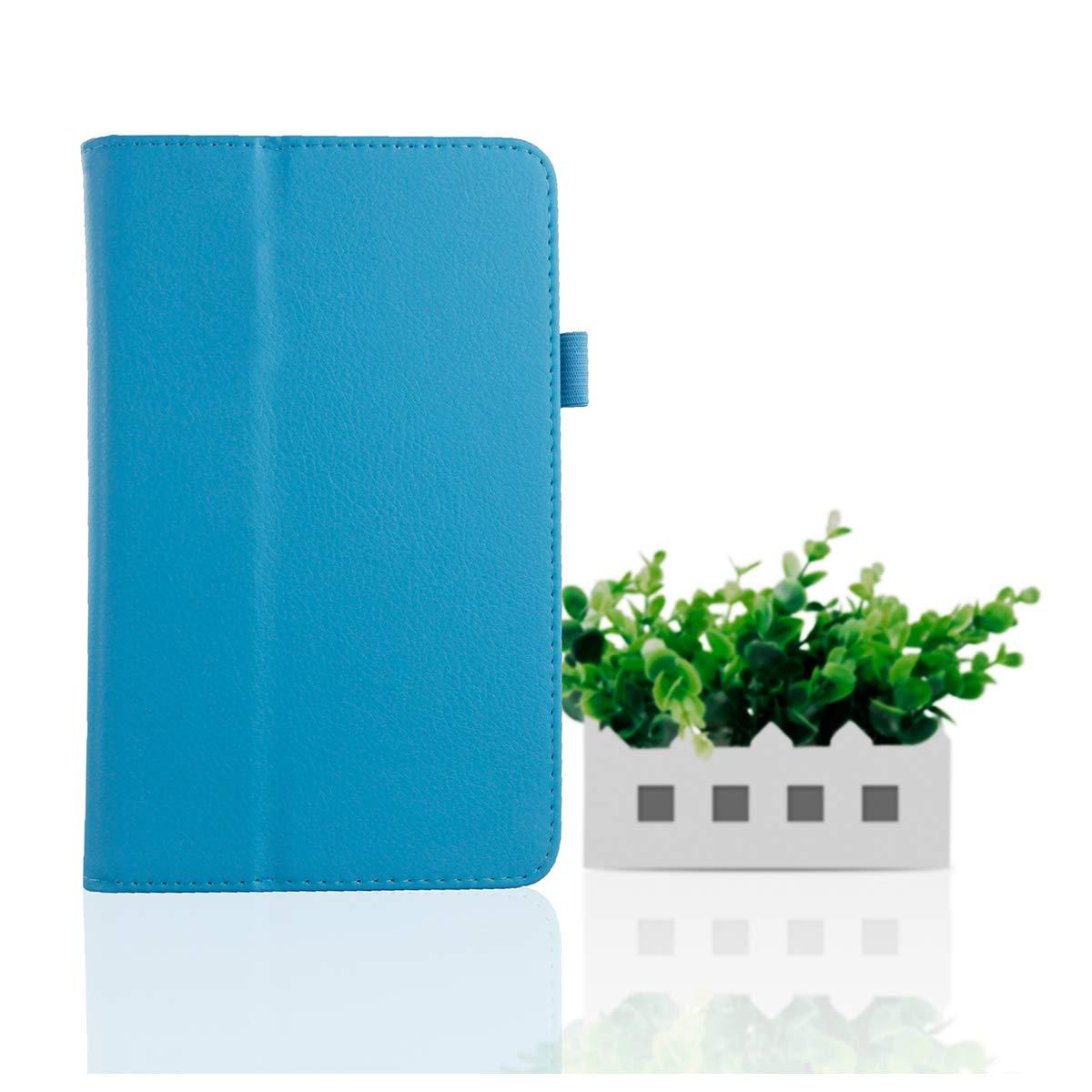 LG G Pad 7.0 V400 プレミアム PUレザー フリップケース ケースリストレザーケース カード付き ブルー C605-Q0-522  ブルー B07LFD2388