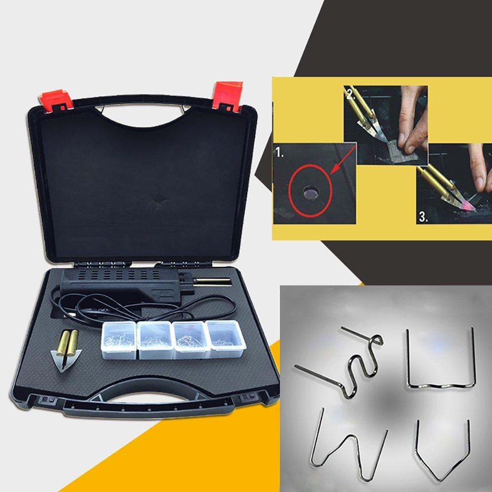Binglinghua 110V/220V Hot Stapler Car Bumper Fender Fairing Welder Gun Plastic Repair Kit 200 Staples by Binglinghua® (Image #5)