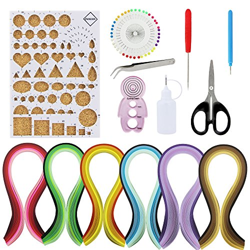 Zilong Paper Quilling Kit include 30 Color 600 5MM Width Strips Quilling Paper and 8 Quilling Tools for Quilling Art