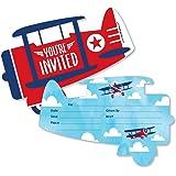 amazon com airplane birthday invitations for boys vintage biplane