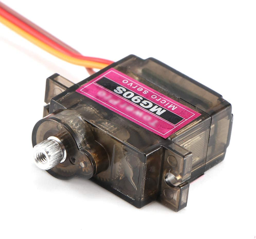 Lemonmax Lofty Ambition MG90S 9g Metal Gear Upgraded SG90 Digital Micro Servos for Smart Vehicle Helicopter Boart Car