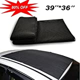 Omonic Car Roof Mat Cargo Bag Top UNIVERSAL Roof Rack Pad (39''x36'') Cushioned Layer Non-slip Heavy Duty Elastic Soft for Car SUV Truck Roof Carrying Cargo Bags Bikes Paddle
