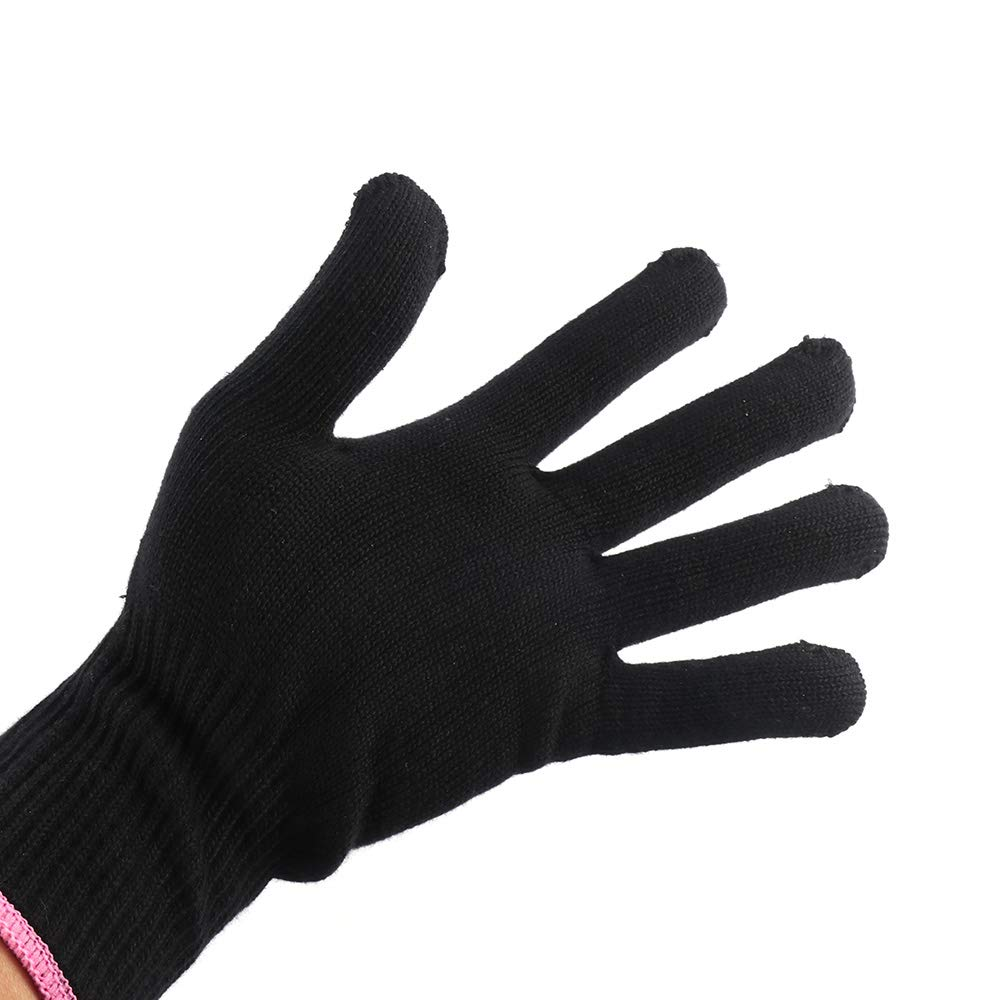 YChoice365 Professional Heat Resistant Glove Hair Styling Tool For Curling Straight Flat Iron Black heat glove for curling iron