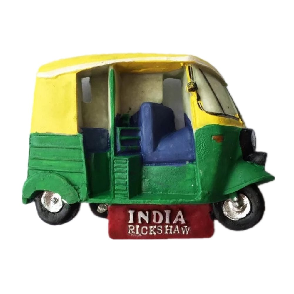 Rickshaw India Resin 3d Strong Fridge Magnet Souvenir Tourist Gift Chinese Magnet Hand Made Craft Creative Home and Kitchen Decoration Magnetic Sticker