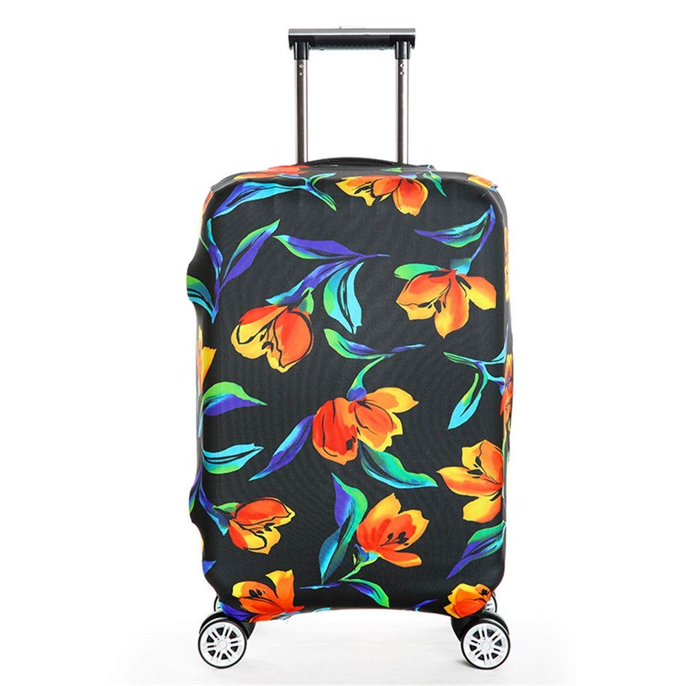 Yuybei-Bag Luggage Cover Flower Printing Travel Luggage Cover Rainproof Elastic Baggage Covers Fits 18 to 32 Inch Luggage Travel Luggage Sleeve Protector Color : A, Size : S 18-21