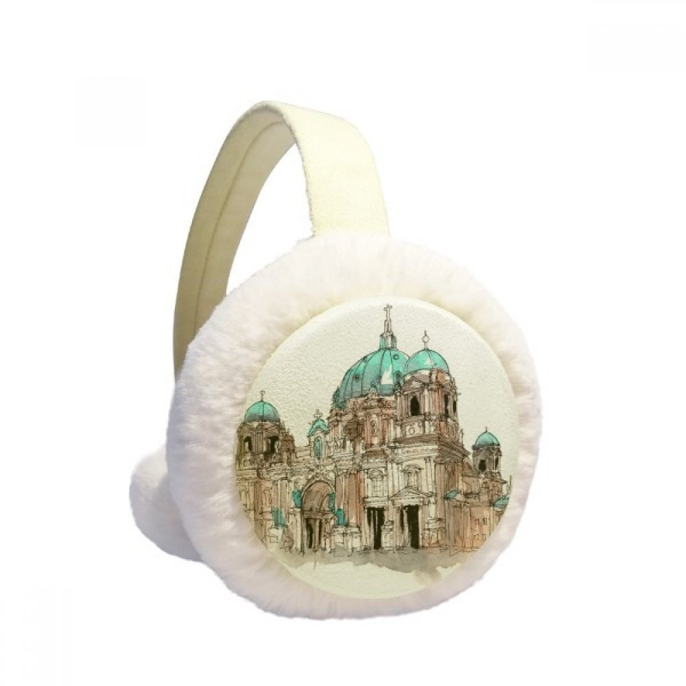 Berlin Cathedral in Germany Winter Earmuffs Ear Warmers Faux Fur Foldable Plush Outdoor Gift