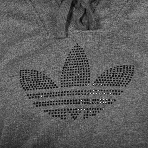 Xx Donna Logo Rhinestone Felpa Adidas Grau Grau Cappuccio Con small xnw0nXPv