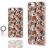 iPhone 8 Case Cute,iPhone 7 Case for Girls,ChiChiC [Orignal Series] Anti-Scratch Slim Flexible Soft TPU Rubber Cases Cover for Apple iPhone 7 8 4.7 Inch, Cute Cartoon Animal Brown Dogs and Cats pet