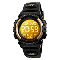 Kids Digital Watch Outdoor Sports 50M Waterproof Electronic Watches Alarm Clock 12/24 H Stopwatch Calendar Boy Girl Wristwatch