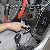 Mpow Bluetooth 4.0 FM Transmitter Wireless Bluetooth Car Adapter with Built-in Mic for Handsfree Calls and Voice Assistant Bluetooth Car Kits with 330 Degree Rotatable Head for Easy Control MBT9-MBF-USAA3