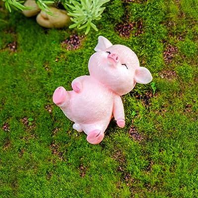 Yardwe 5 Piezas de Cerdos en Miniatura Hadas jardín Cerdos Mini Cerdos Figuras de Animales para jardín decoración de la Torta de la casa de muñecas (Estilo Aleatorio): Amazon.es: Jardín