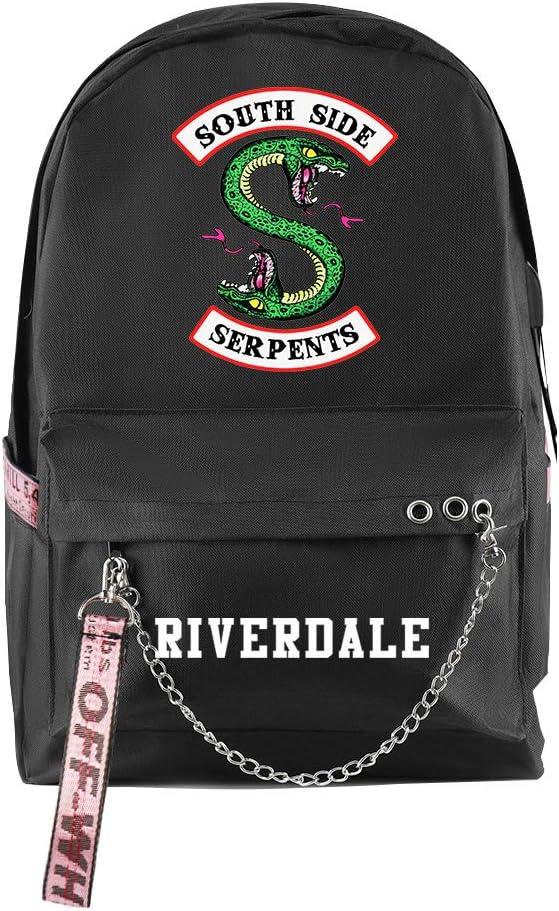 Adonisaon South Side Serpents Backpack Laptop Bag Travel Backpack Cool Zip Backpack for Men Women Teens