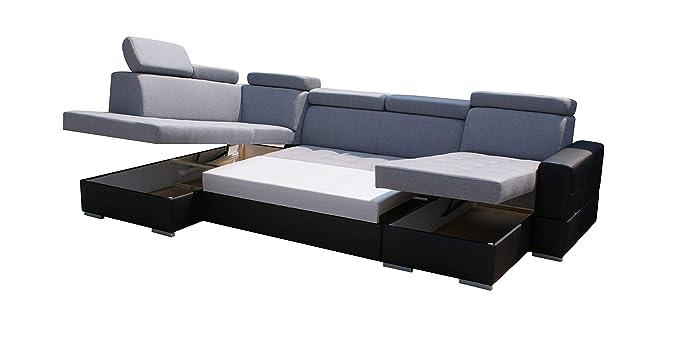 E-MEUBLES - Sofá de Esquina panorámico en U, Convertible ...