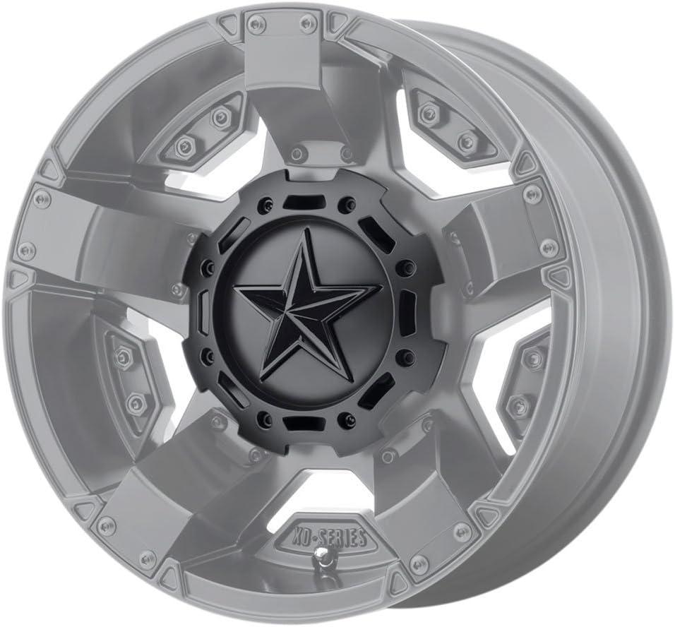 KMC XD Series Rockstar 3 827CAPMB-GB-1 T116L188 S1604-11 Matte Black Center Cap Gloss Black Star