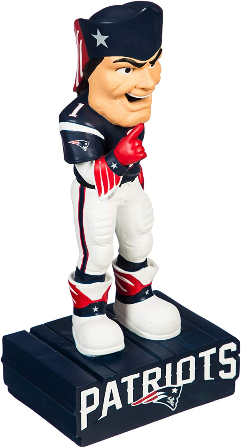 Team Sports America NFL New England Patriots Fun Colorful Mascot Statue 12 Inches Tall