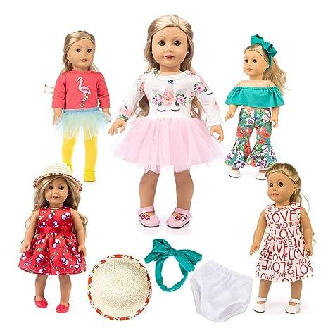 "45e7b251b0008 Unicorn Doll Clothes American Girl Doll Unicorn Clothes Outfit Pajamas Set  10pcs 18"" Unicorn American"