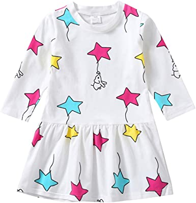 Toddler Infant Kids Baby Girls Floral Print Princess Sundress Casual Dress Dream Room Dresses