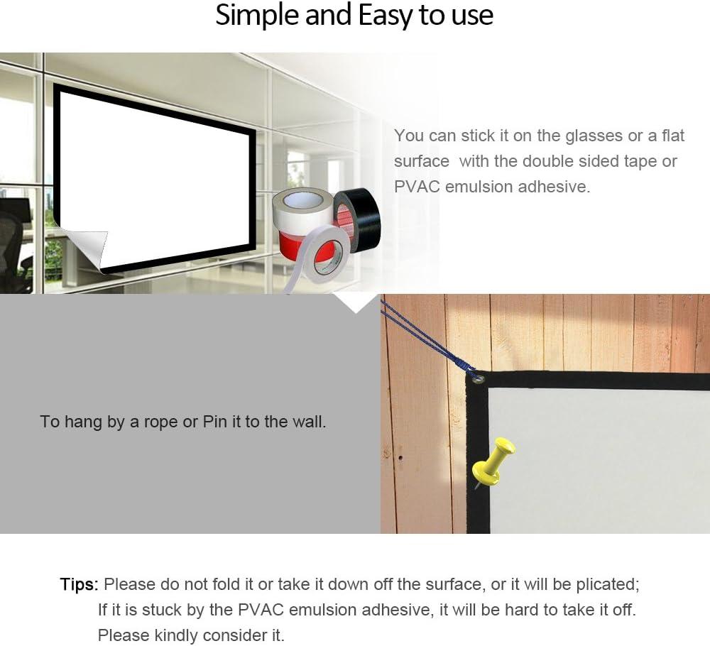 EUG 16: 9 Widescreen pantalla de proyección portátil pantalla para ...