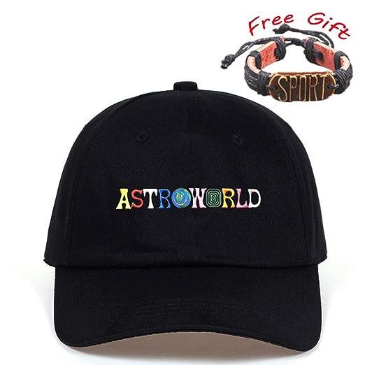 Unisex Astroworld Hat Baseball Cotton Embroidery Adjustable Dad Caps Hip-hop  Hat Sun(Arw 71f3e798bb34