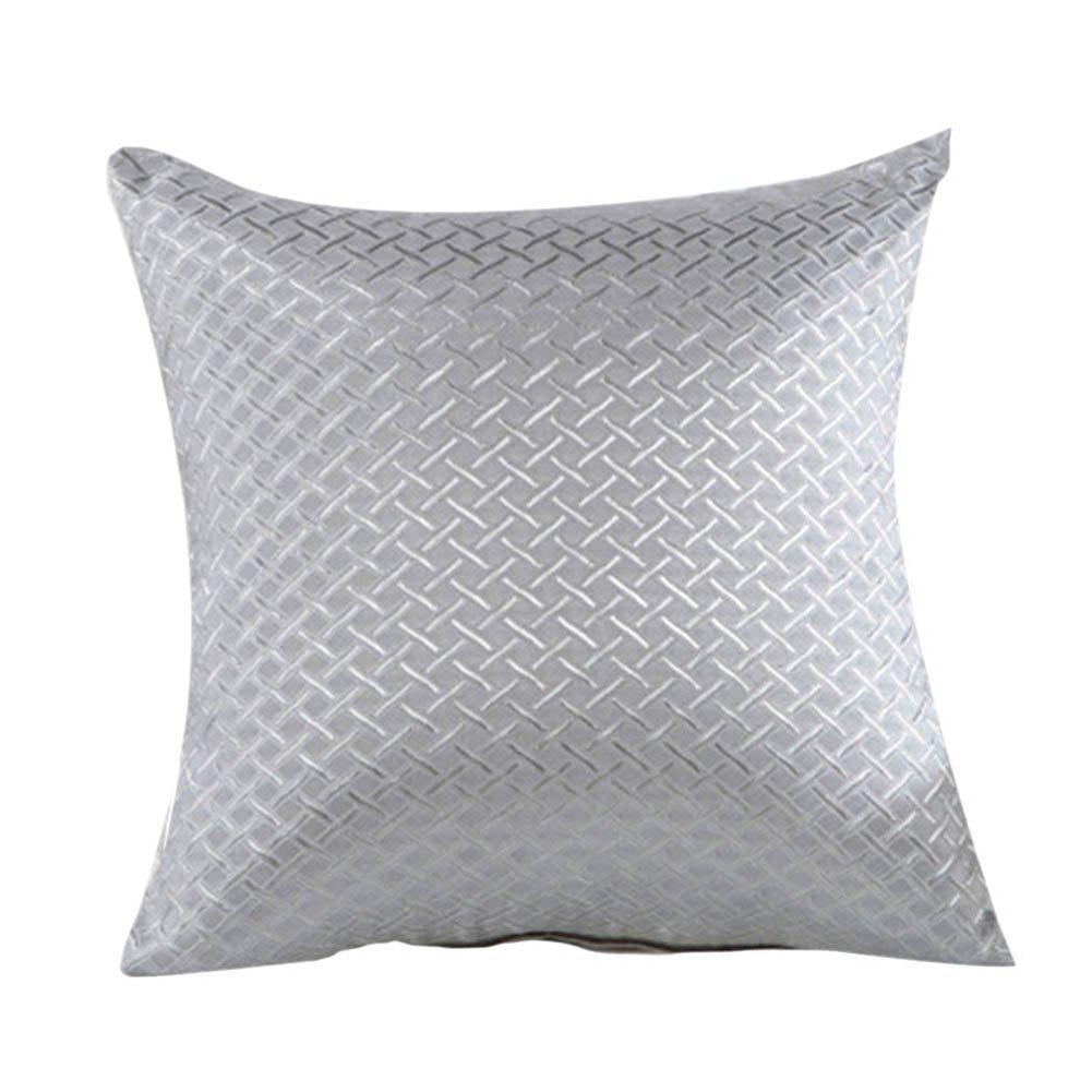 Amazon.com: Elegant Hot Grid Throw Pillow Case Home Sofa ...