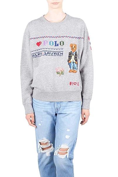 Polo Ralph Lauren Bear LS po Long Sleeve Knit Donna S: Amazon.es ...