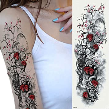 7pcs Pieza pieza tatuaje Luna tatuaje etiqueta engomada del ...