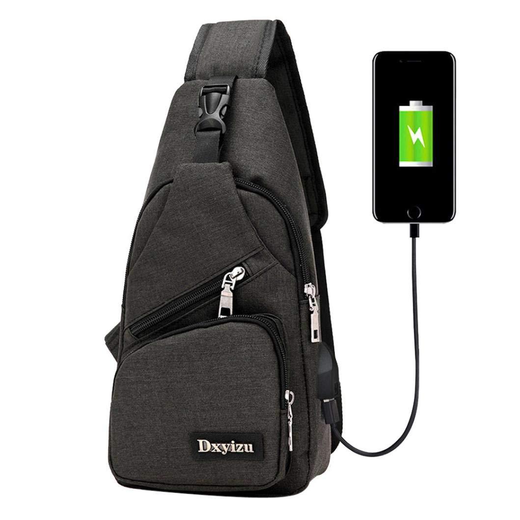Wobuoke_Shoulder Bag メンズ B07G6H2XGW ブラック