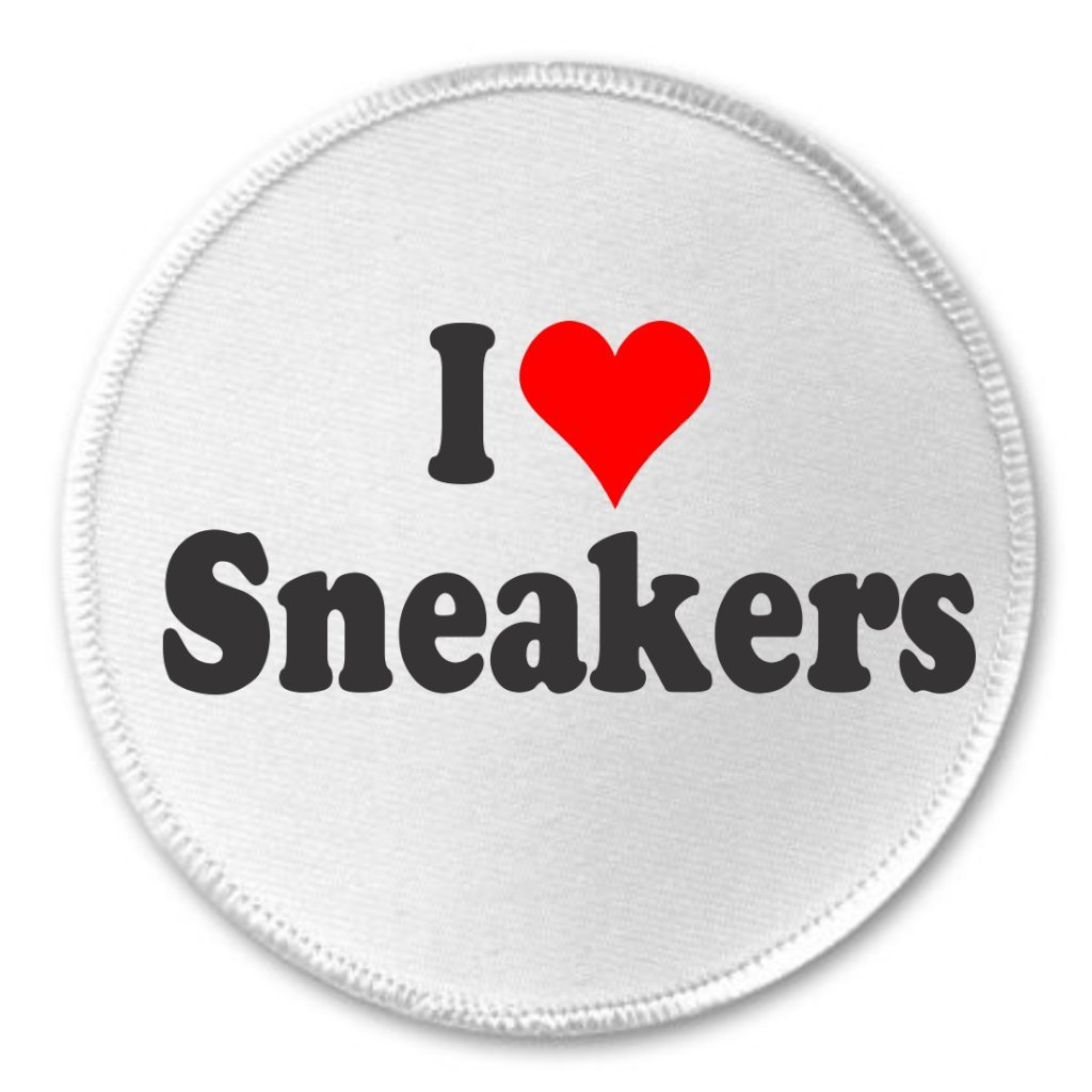 A/&T Designs I love Sneakers 3 Sew On Patch Athletic Sports Shoes