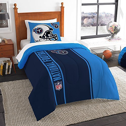 (Northwest Sham NOR-1NFL835000016BBB 64 x 86 Tennessee Titans NFL Twin Comforter Set, Soft & Cozy)