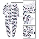 YXD Baby Girls 2-Pack Snug Fit Footed Pajamas