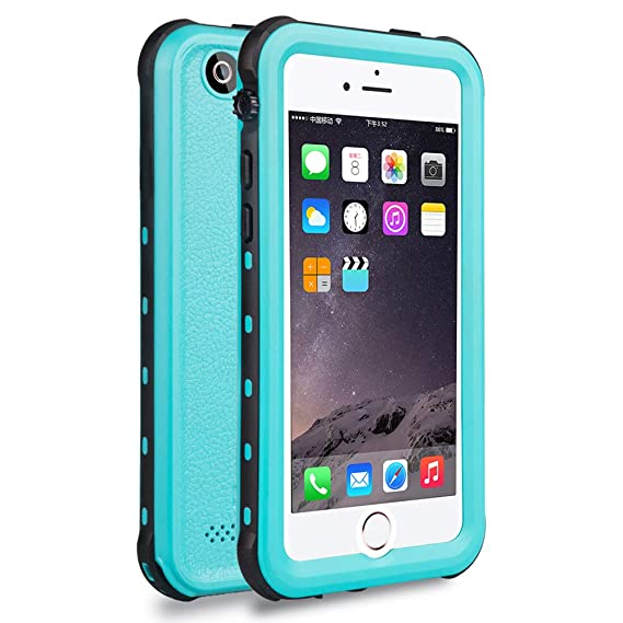 outlet store febdc 099e1 iPhone 5S / SE Waterproof Case, Waterproof Dust Proof Snow Proof Shock  Proof Case with Touched Transparent Screen Protector, Heavy Duty Protective  ...