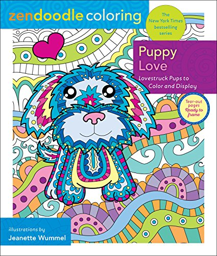 Zendoodle Coloring: Puppy Love: Lovestruck Pups to Color and Display