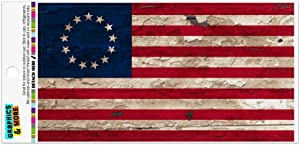 Graphics and More Rustic Betsy Ross 1776 Distressed American Flag Automotive Car Refrigerator Locker Vinyl Magnet