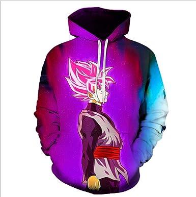 Dragon Ball Sun Wukong Mens Cotton Coat Winter Plus Fleece Sweater Zip Hooded Mens Jacket Jacket