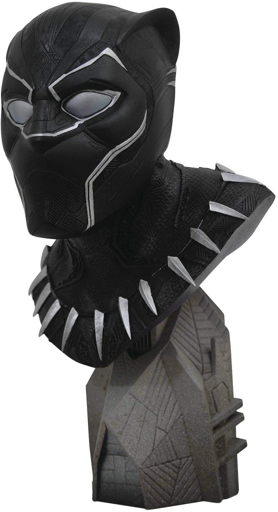 DIAMOND SELECT TOYS Legends in 3-Dimensions: Black Panther Movie 1: 2 Scale Resin Bust, Multicolor