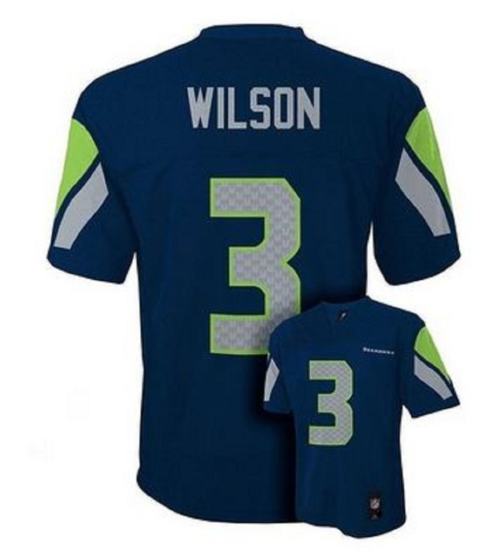 0a33ac379 Amazon.com   Russell Wilson Seatlle Seahawks Navy Youth Jersey Small 8    Sports Fan T Shirts   Sports   Outdoors