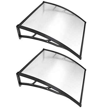 Amazon Com Yescom 2 Sets 39 X39 Outdoor Clear Door Window Awning