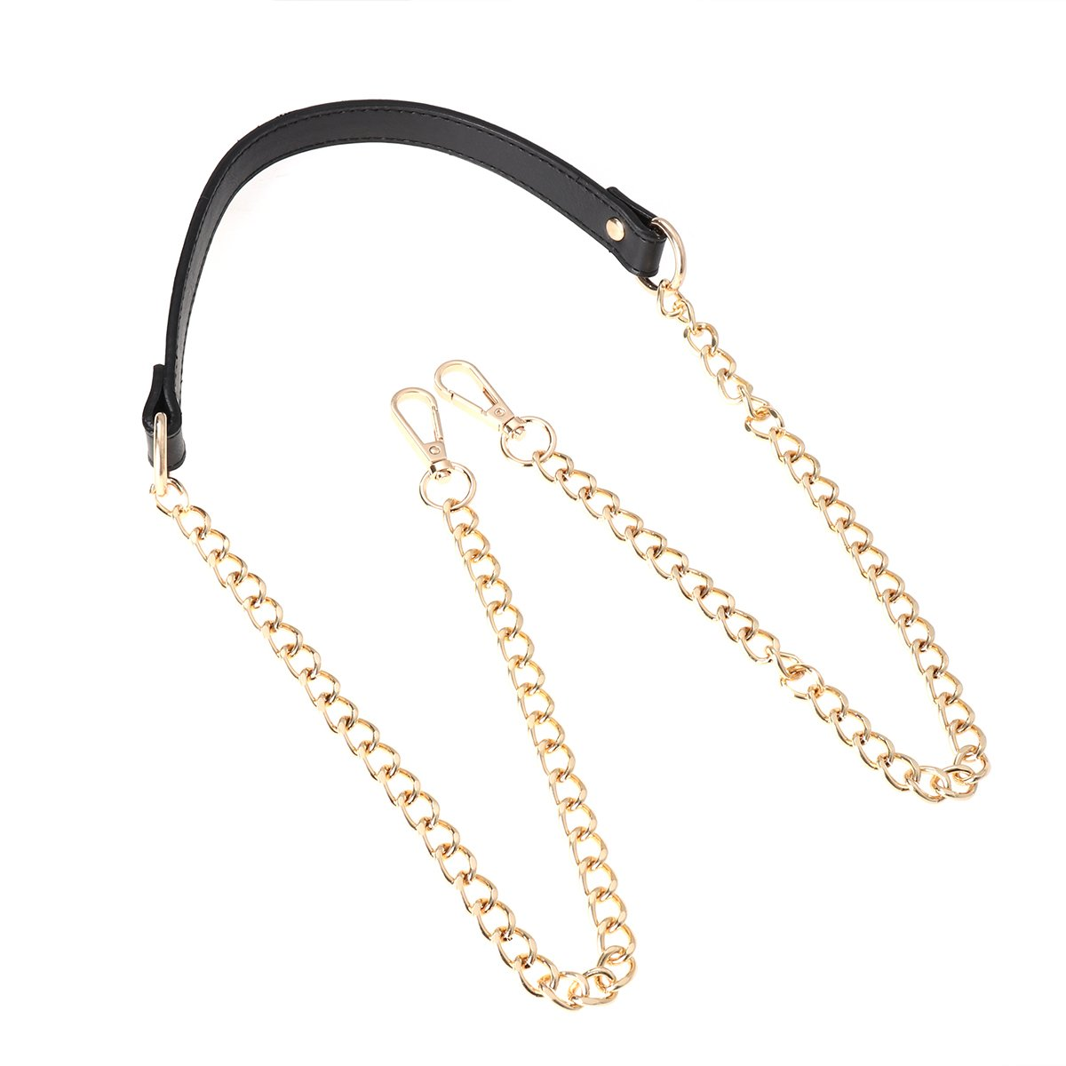 OULII Handbags Metal Chains Purse Chain Shoulder Bags Straps Replacement Accessories with Buckles Gold Black
