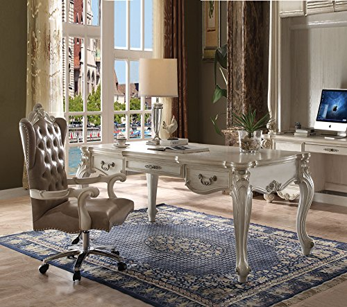Acme Furniture ACME Versailles Bone White Executive Desk (Executive Desk Antique)
