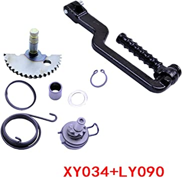 Engine Start Gear Kick Start Idler Gear Shaft Spring for GY6 50 139QMB 50cc Scooter Moped