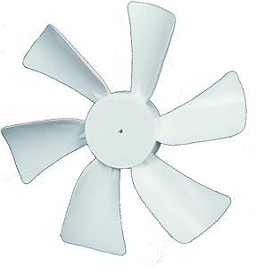 "Ventmate 65485 White 6"" Replacement Ventline/Jensen Fan Blade with 0.125"" Round Bore"