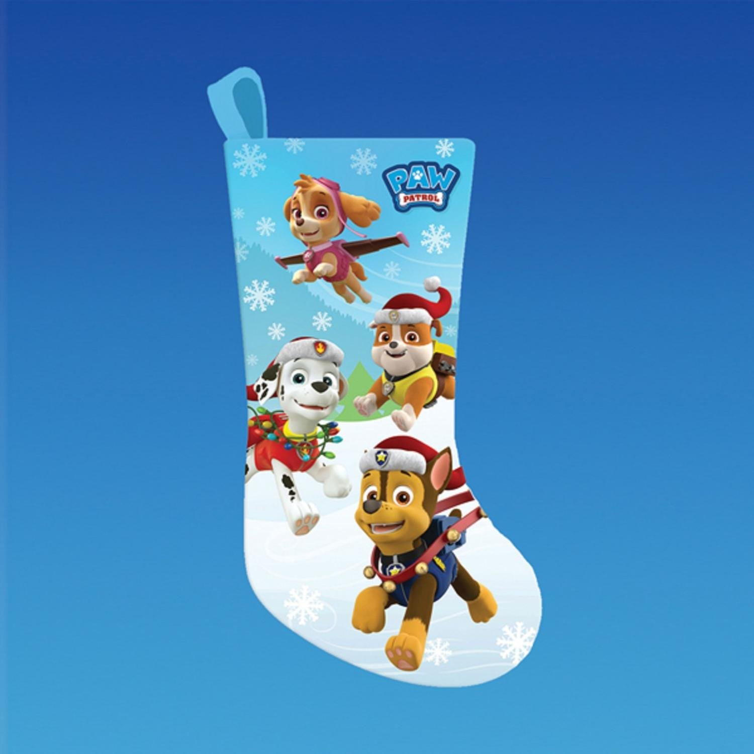 amazoncom pack of 6 paw patrol characters printed satin christmas stockings 19 home kitchen - Paw Patrol Christmas Decorations