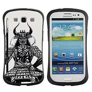 Hybrid Anti-Shock Bumper Case for Samsung Galaxy S3 / Samurai Warrior