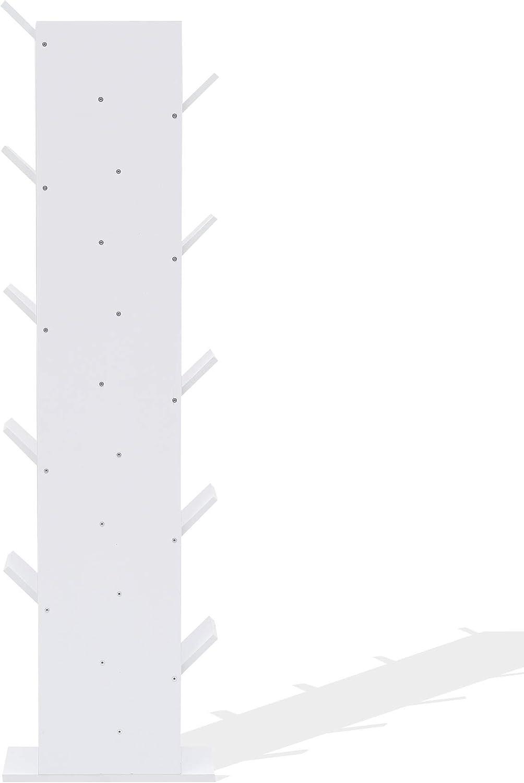 - Art Stile Moderno Marrone Chiaro MDF Design scandinavo HxLxP RE4797 Rebecca Mobili Libreria cameretta Misure: 160 x 44,5 x 22 cm scaffale di Legno per Ufficio con 10 mensole