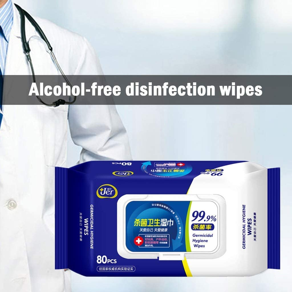 Wet Wipes Antibacterial Tissue Clean Hand Health Care Bulk Surface Cleaning 80 Wipes//Pack