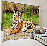 Sproud Tiger Lion Digital Print 3D Blackout Curtains Kids For Living Room Bedding Room Drapes Cotinas Para Sala-280Cmx300Cm
