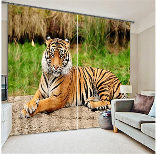 Sproud Tiger Lion Digital Print 3D Blackout Curtains Kids For Living Room Bedding Room Drapes Cotinas Para Sala-280Cmx300Cm