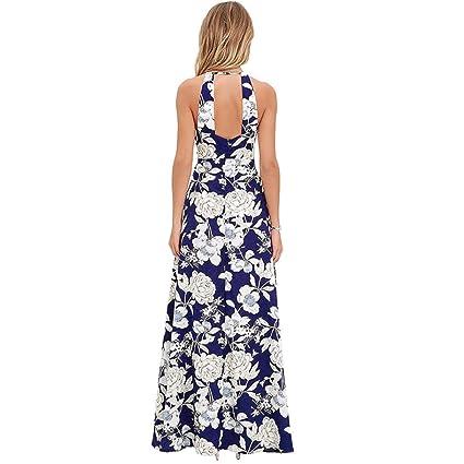 Vestido, Oyedens Las mujeres de verano boho maxi largo vestido de fiesta de noche vestido de playa sundress: Amazon.es: Ropa y accesorios