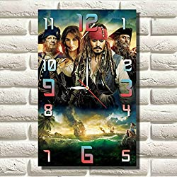Pirates of the Caribbean 17'' x 11 Handmade MAGIC WALL CLOCK FOR DISNEY FANS made of acrylic glass - Get unique décor for home or office – Best gift ideas for kids, friends, parents