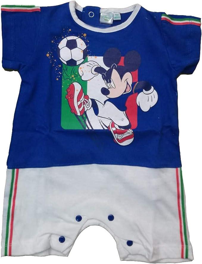 WD101298 Disney Tutina Pagliaccetto Neonato Spalla Larga Mickey Nuova Collezione Art